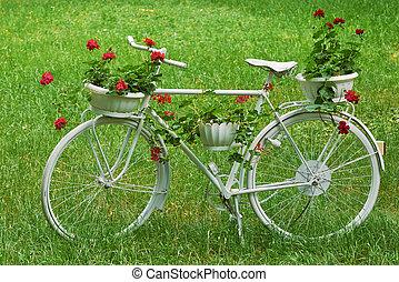 blanc, Vélo,  retro