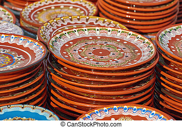 Earthenware Crockery - A Lot of Earthenware Crockery on the...