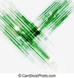 Green abstract straight lines background, stock vector
