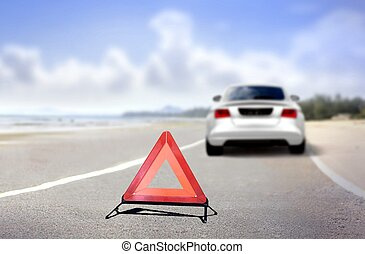 Car emergency stop at road side