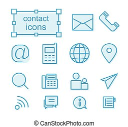 icons set, Contact us