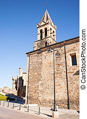 San Andres church in Ponferrada - View of the San Andres...