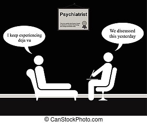 Psychiatrist Deja Vu - Monochrome on the Psychiatrist couch...