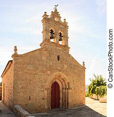 Church O Salvador, Sarria - View of the church O Salvador in...