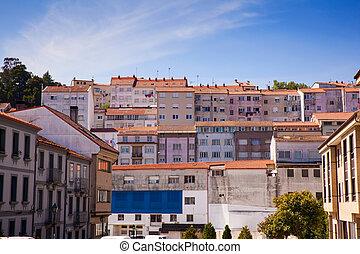View of Santiago neighbourhood - View of neighbourhood in...