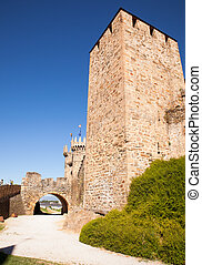 Templar Castle in Ponferrada, Spain - View of the Templar...