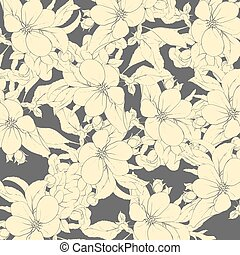sakura flowers on a dark background