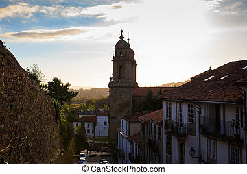 Belltowers of the Monastery of St. Francis, Santiago de...