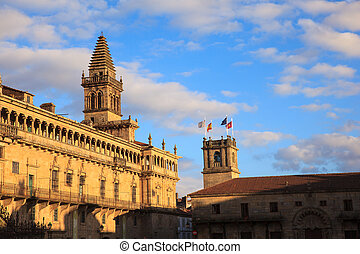Belltower of the Santiago cathedral - View of the belltower...
