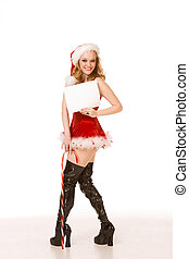 Template - Sexy pin up Mrs Santa Claus copyspace