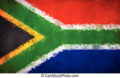 South Africa polygon flag background