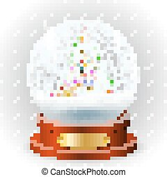 Realistic christmas snow globe - Realistic new year...