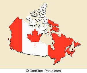 Canada map flag
