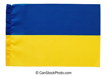 Yellow and blue flag of Ukraine