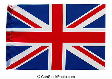 flag of Great Britain with folding marks used as background