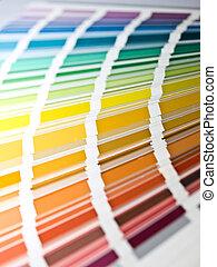 cor, Amostras, Janela, perfil, decoração