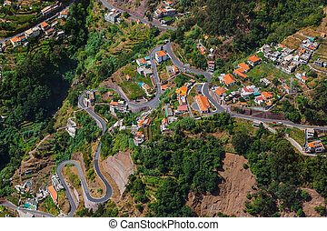Mountains landscape - Madeira Portugal - travel background
