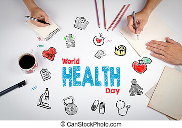 World health day concept. Healty lifestyle background. The...