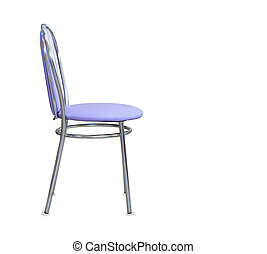 The profile view of modern new exclusive kitchen chair