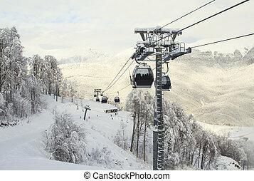 Sochi, Russian Federation – January 02, 2016: Cable Car...