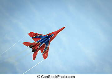 Aerobatics performed by aviation group of Military-air...