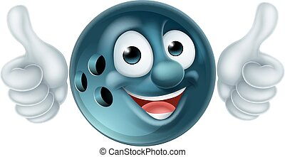 Bowling Ball Cartoon Character