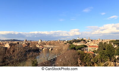 Rome's rooftops. View from the Giardino degli Aranci. Rome,...