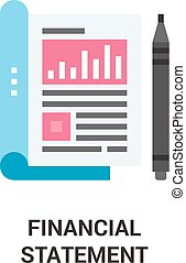 financial statement icon concept - Modern flat vector...