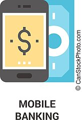 mobile banking icon concept