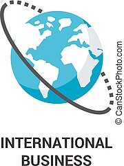 international business icon concept