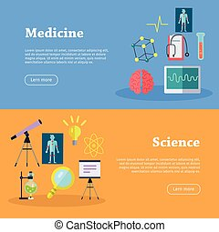 Medicine and Science Web Banners