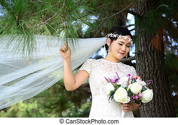 beautiful asian bride