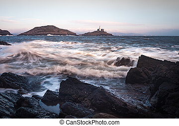 Mumbles lighthouse Gower - An iconic structure in Swansea,...