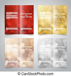 Brochure design templates set with abstract background with...