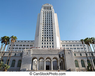Los Angeles City Hall - Spring Street entrance.