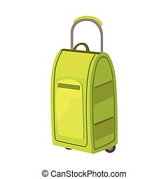 Large Green Suitcase On Wheels With Telescopic Handle Item...
