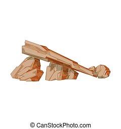 Set Of Red Limestone Rocks Natural Landscape Design Element,...
