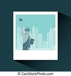 new york city design - photo with liberty statue iconic...