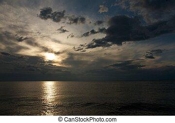 the sunrise at Lake Baikal in summer - the sunise at Lake...