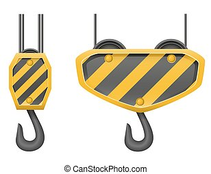 hook crane for building vector illustration isolated on...