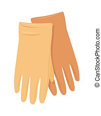 Leather Gloves Vector Illustration in Flat Design - Leather...