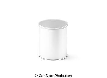Blank white small carton cylinder box mockup, isolated, 3d...