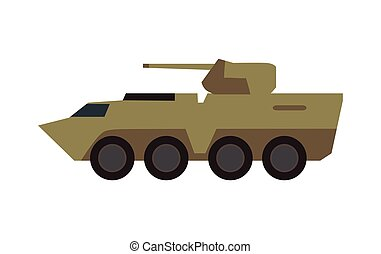 Armored Personnel Carrier Vector Illustration - Armored...