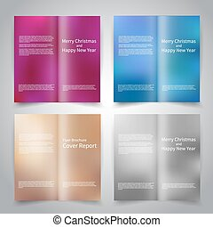 Brochure design templates set with abstract colorful...