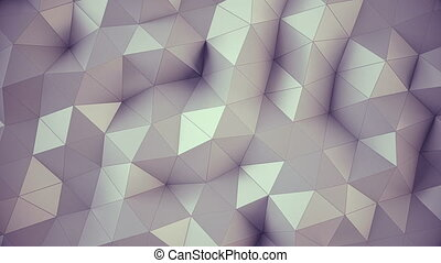 Polygonal geometric surface background. - Computer generated...