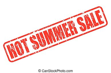 HOT SUMMER SALE red stamp text on white