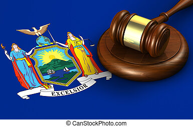 New York US State Law Legal System Concept