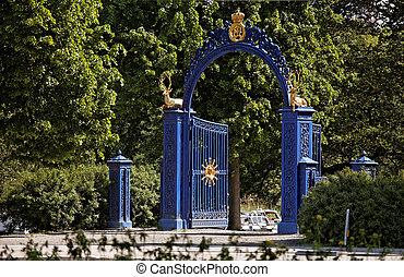 Blue Gate on the island of Djurgarden. Stockholm. Sweden