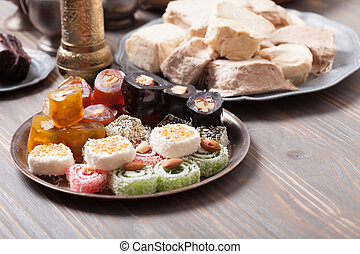 Turkish delight rahat lokum - Turkish delight lokum with...