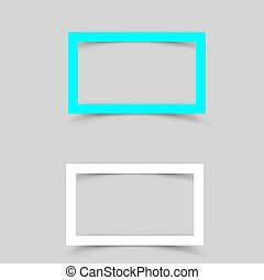 Paper white frame shadow